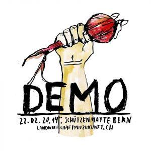 Flyer Demo Landwirtschaft mit Zukunft