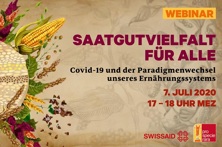 Flyer Webinar Saatgutvielfalt für alle